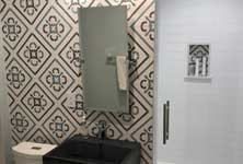 Hand painted Talavera tile Houston, marble, granite countertops